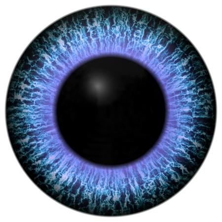 Eye iris gegenereerde realistische kleuren