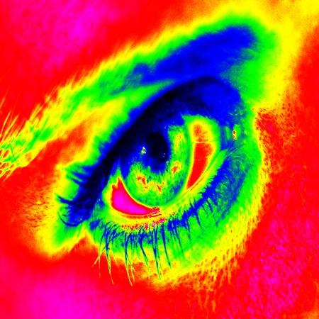infrared: Infrared thermal eye iris eyebrows