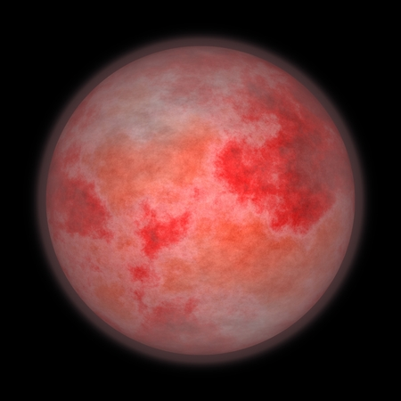 apocalyptic: Blood Moon lunar eclipse supermoon or apocalyptic moon background Stock Photo