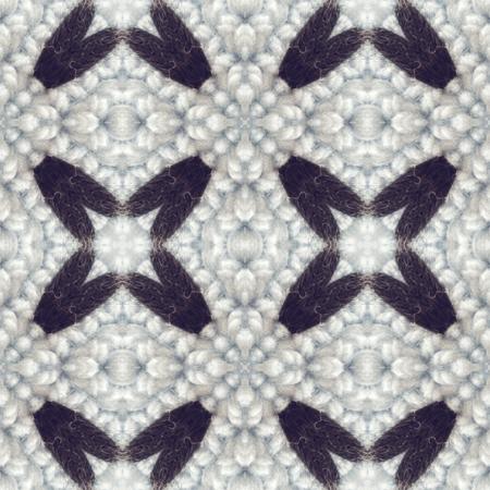 generative: Kaleidoscope mosaic wool seamless texture or background
