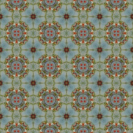 arte moderno: Caleidoscopio del mosaico rosa cadera perfecta textura o el fondo