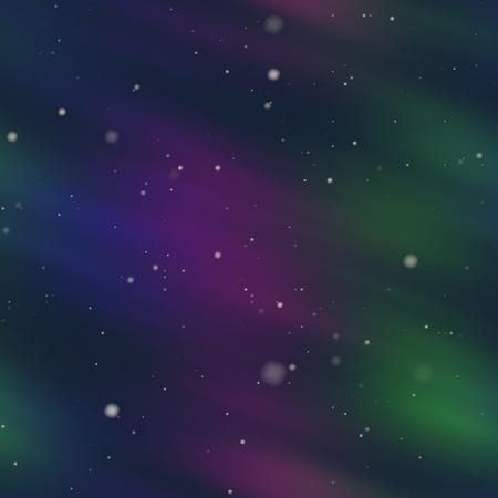 polaris: Aurora Borealis abstract background polar sky illustration