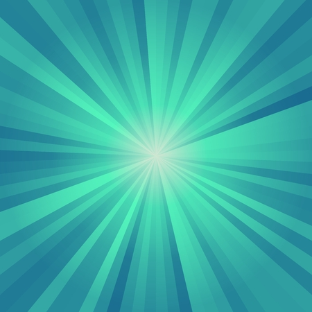 Abstract background of blue colorful star burst rays illustration