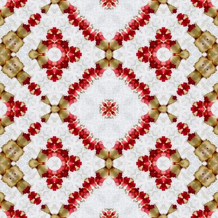 generative: Christmas balls kaleidoscopic mosaic seamless texture or background