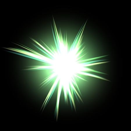 emanation: Plasmatic green power ball rays bursts background illustration