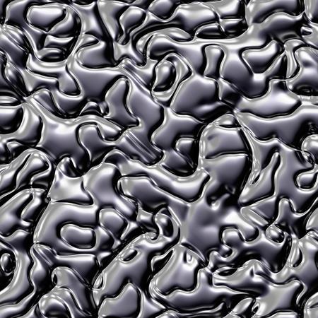 liquid reflect: Chrome melt metal fluid seamless texture or background