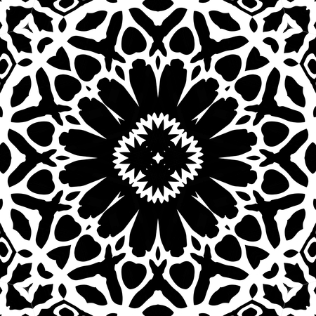 generative: Adult antistress coloring page. Kaleidoscopic mosaic seamless texture or background Stock Photo