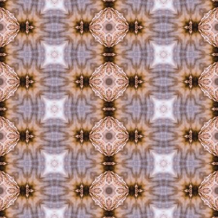 generative: Floral Kaleidoscopic mosaic seamless texture or background Stock Photo