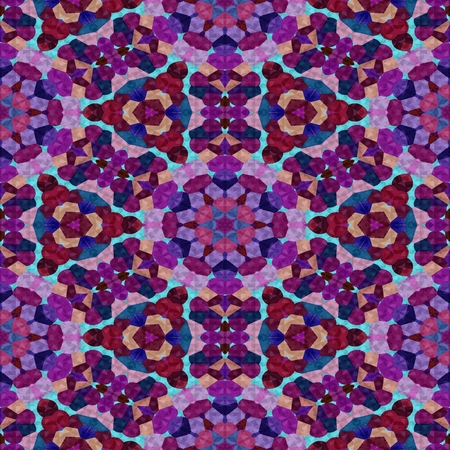 generative: Colorful Kaleidoscopic mosaic seamless texture or background