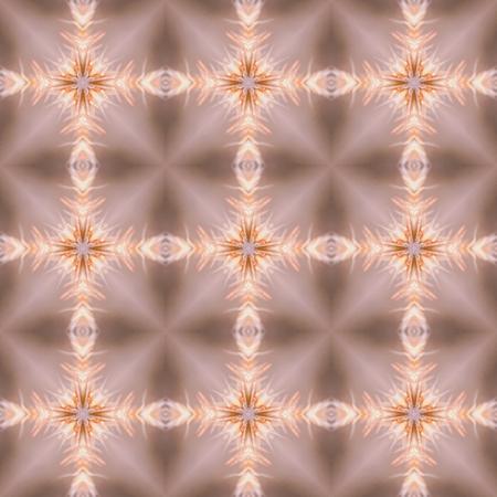 Floral Kaleidoscopic mosaic seamless texture or background Stock Photo
