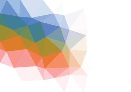幾何学的な多色三角形低ポリ グラフィックの背景のグラデーションのイラスト。ベクター デザインのテクスチャです。多角形の抽象的なベクトルの