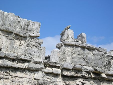gulf of mexico: Mayan Indian Temple ruins, Cozumel, Gulf of Mexico