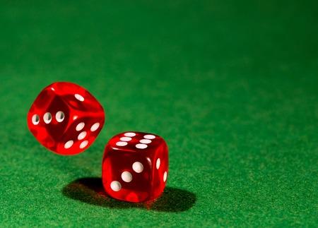 gambling: dice for gambling Stock Photo
