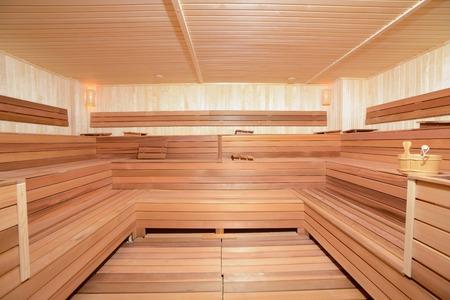 therapie: empty sauna Stock Photo