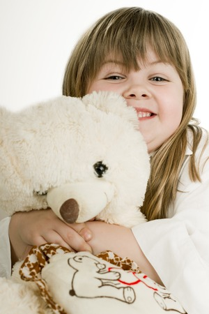 a girl and her beloved bear