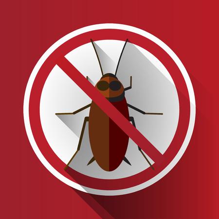 prohibido: Prohibido vector larga sombra Sin Cucaracha sesi�n
