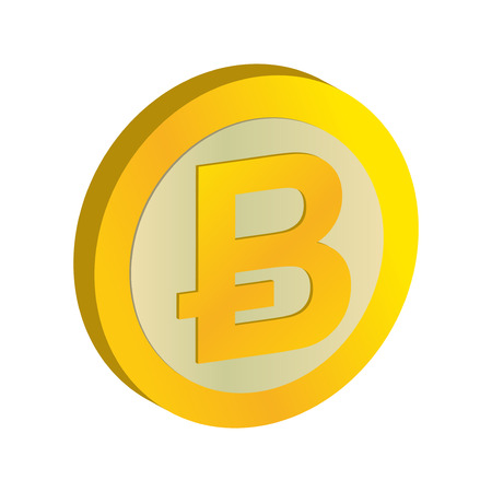 Real Bitcoin sign  Coin Symbol digital money
