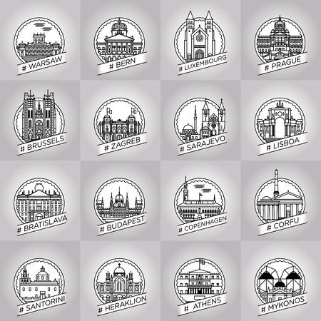 stad badge collectie set
