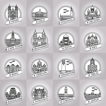 city badge collection set