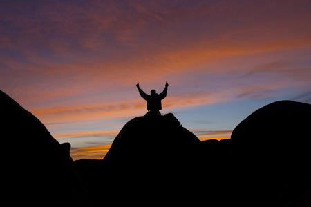Victory On A Boulder
