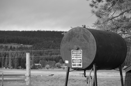 Gas Tank In Montana Stock Photo