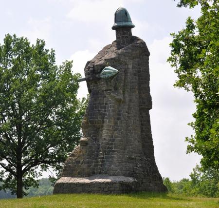 mace: Zizka monument with mace  Stock Photo
