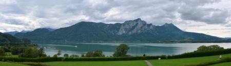 Mondsee panorama view photo