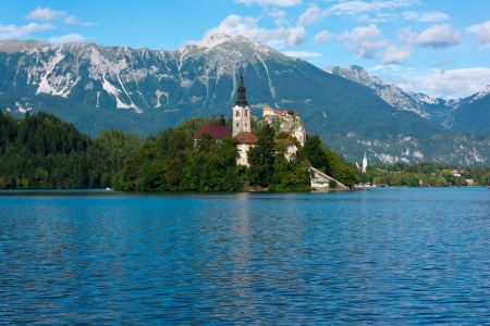 Lake Bled, church