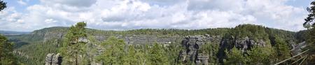 ceske: Bohemia schweiz  Ceske svacarsko panorama Stock Photo