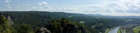 schweiz: Sachsichse schweiz  Saxon switzerland panorama Stock Photo