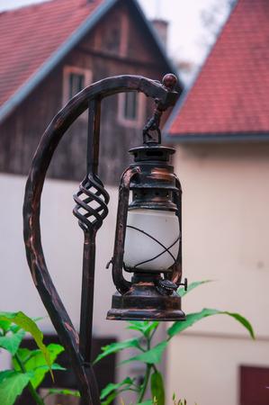 strret: Old strret oil lamp Stock Photo