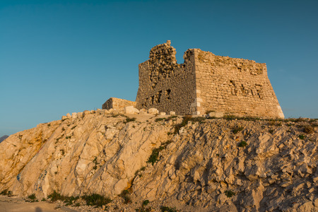 Ruins of fortress near Pag bridge