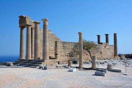 Lindos antique, Acropole Banque d'images