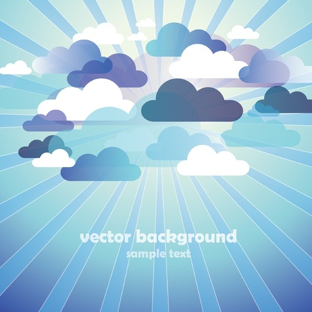 Abstract Cloud Background  Illustration