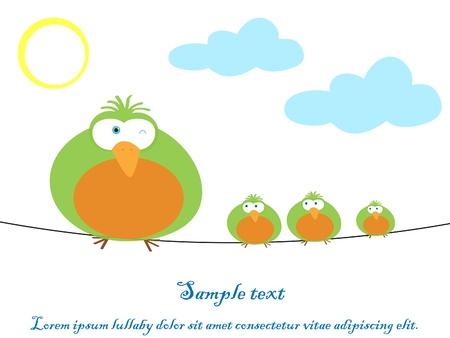 birdie: Illustrazione vettoriale di uccelli variopinti Vettoriali