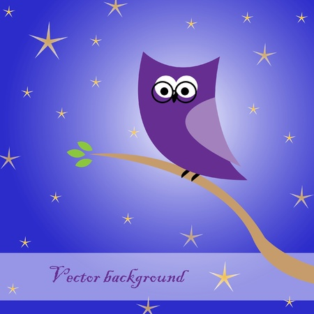 Abstract owl in the night Vector