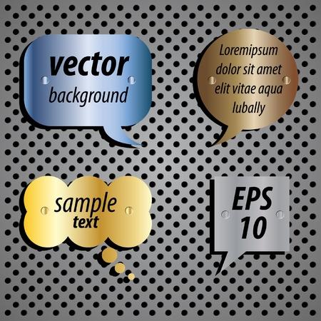 Metallic speech bubble icon Stock Vector - 9692068