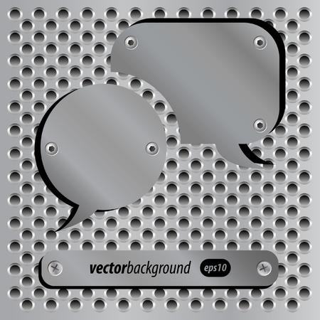 Metallic speech bubble icons Vector
