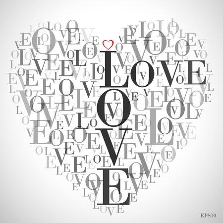 A heart made of words