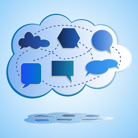 Abstract big cloud computing Illustration