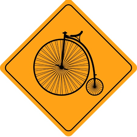Velocipede (old  bicycle) road sign