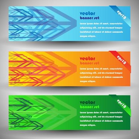 Modern elegant arrows eps10 vector banners