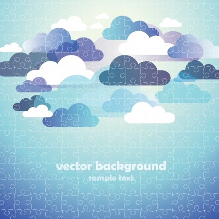 Abstract Cloud Background puzzle jigsaw