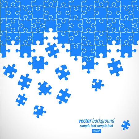 entreprise puzzle: Conception de vecteur de pi�ces de puzzle.