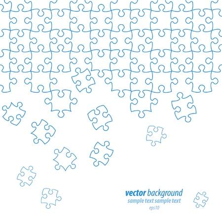 Puzzle pieces vector design Stock Vector - 9865961