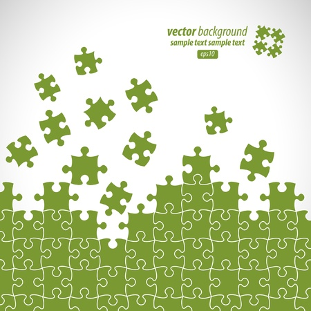 managed: Puzzle pieces vector design