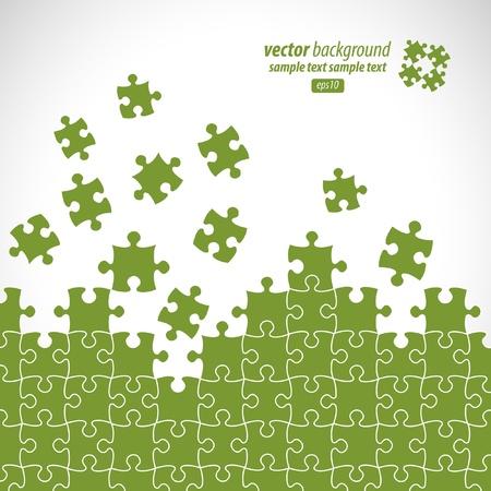 Puzzleteile Vektor-Design