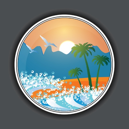 Summer holiday beach background vector Illustration