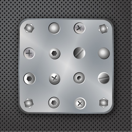 Screws rivets and bolts vector illustration Vector