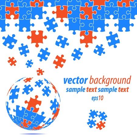 Puzzle pieces vector design Stock Vector - 9865969